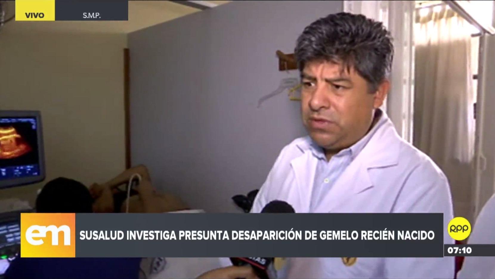 Representante del Hospital Cayetano Heredia aseguró que Mariella Guillermo Bautista esperaba solo un bebé.