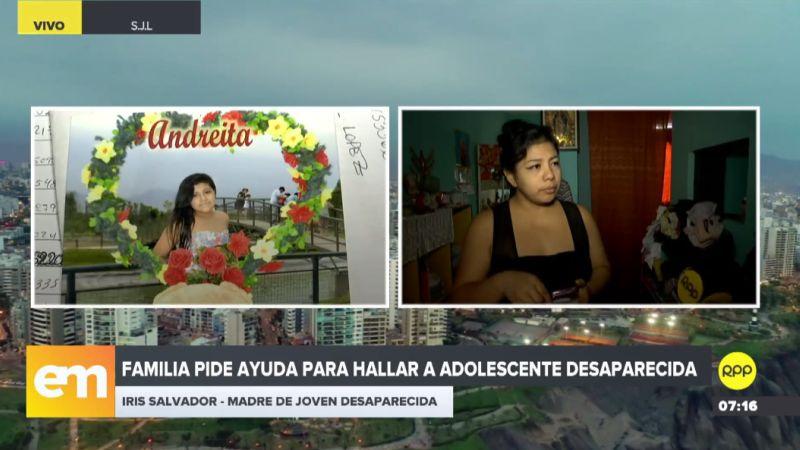 Iris Salvador Mendocilla denunció a través de RPP Noticias la desaparición de su hija.