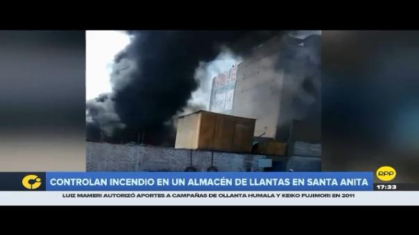 Incendio en Santa Anita solo dejó daños materiales.