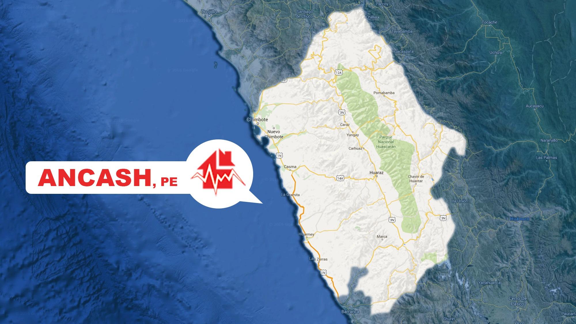 El movimiento se sintió a 89 kilómetros al oeste de Chimbote.