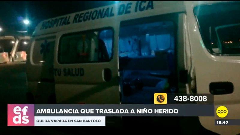 El doctor comentó que tendrían apoyo de una ambulancia del SAMU que iba a llegar desde Villa El Salvador.