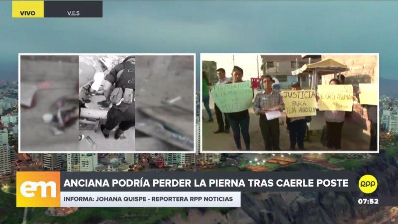 Amigos y familiares de Celia Arrosquipa Quispe realizaron un plantón exigiendo justicia y pidiendo ayuda para el tratamiento.