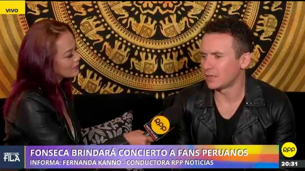 Fonseca fue entrevistado por Fernanda Kanno para RPP Noticias.