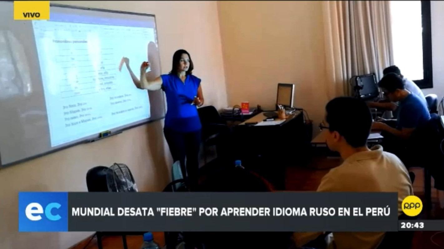 El Centro Ruso de Ciencia y Cultura, en Jesús María, es uno de los pocos lugares donde se enseña el idioma.