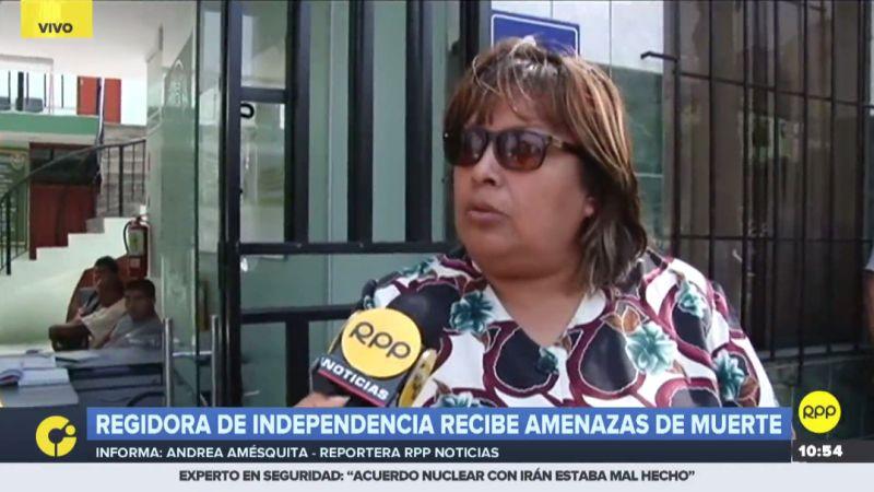 María del Carmen Valencia hizo su denuncia a través de RPP Noticias.