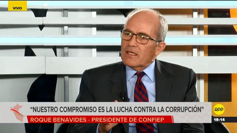 El presidente de la Confiep participó del Primer Foro Integración al Bicentenario de RPP Noticias.