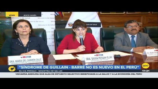 Conferencia de prensa de la ministra de Salud Silvia Pessah sobre el síndrome Guillain-Barré.