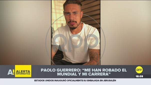 Paolo Guerero dijo que no tiene necesidad de consumir drogas, porque siempre ha demostrado ser un jugador profesional con talento.