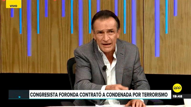 El parlamentario de Fuerza Popular comentó que la situación de Foronda es un tema legal y moral.