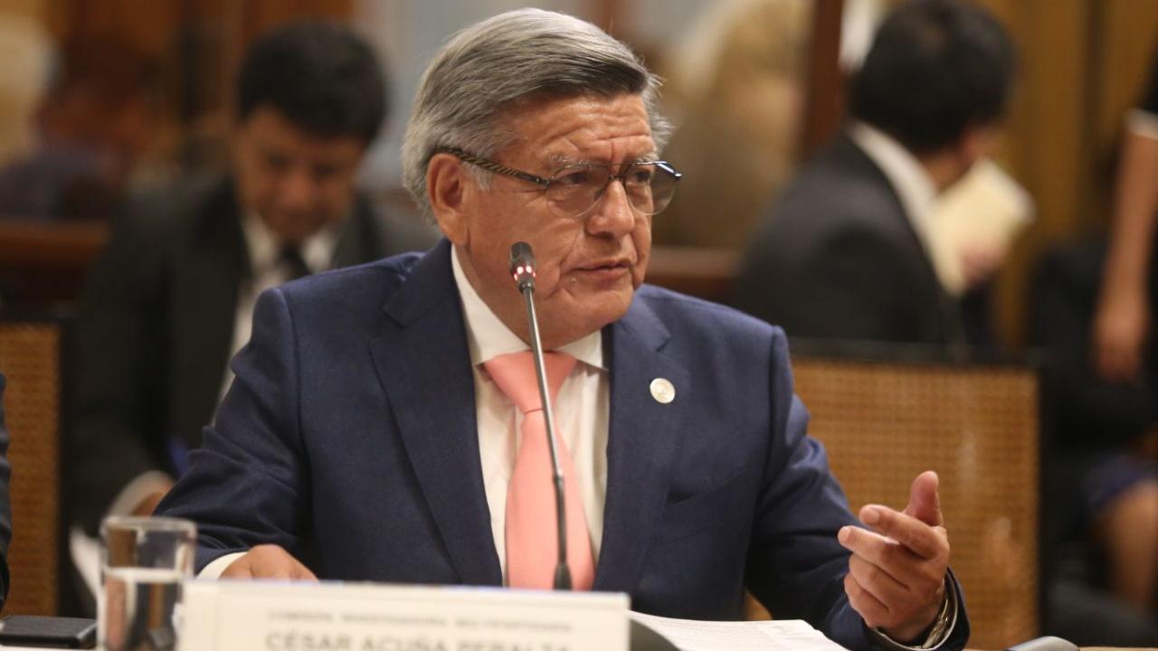 César Acuña se presentó ante la Comisión Lava Jato del Congreso.