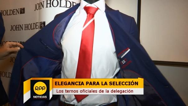 La Selección Peruana lucirá ternos John Holden.