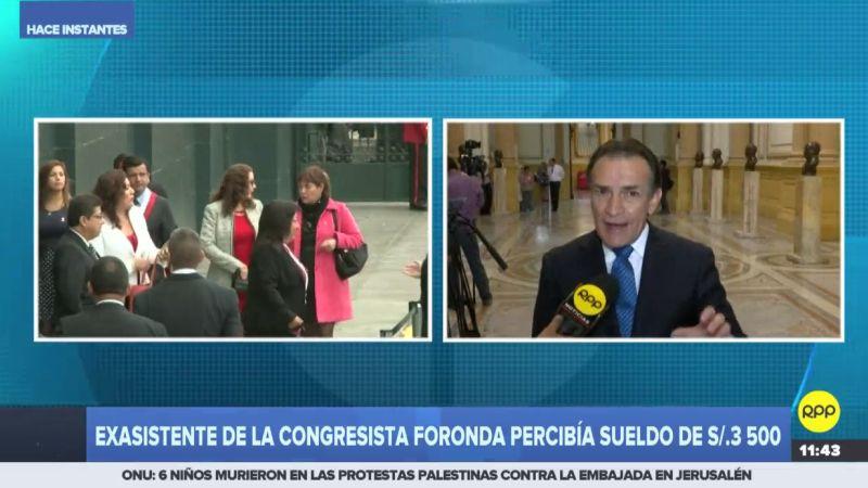 """Héctor Becerril aseguró que María Elena Foronda """"no debería estar un solo día más en el Congreso""""."""