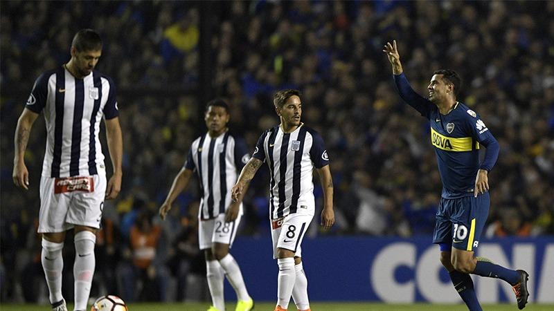 Boca Juniors goleó 5-0 a Alianza Lima por la Copa Libertadores.