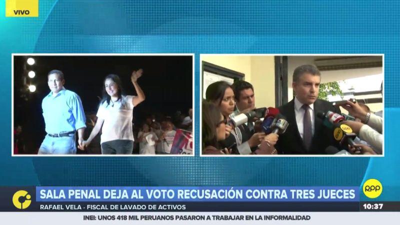 El fiscal Rafael Vela Barba se pronunció sobre recusación presentada por Ollanta Humala y Nadine Heredia.