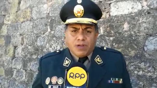 Coronel Manuel Mar Pérez, jefe de la Región Policial Cusco, aclaró que la intervención policial la hizo la policía y no el Inpe.
