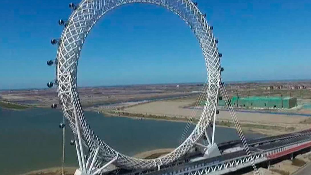 Impresionante construcción en China.