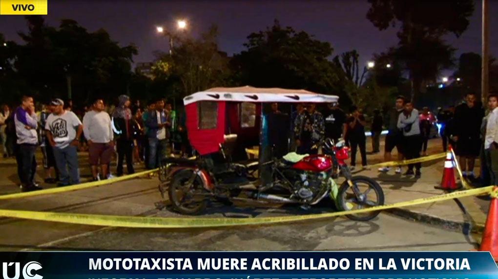 El mototaxista fue ultimado en el jirón Rodolfo Espinar.