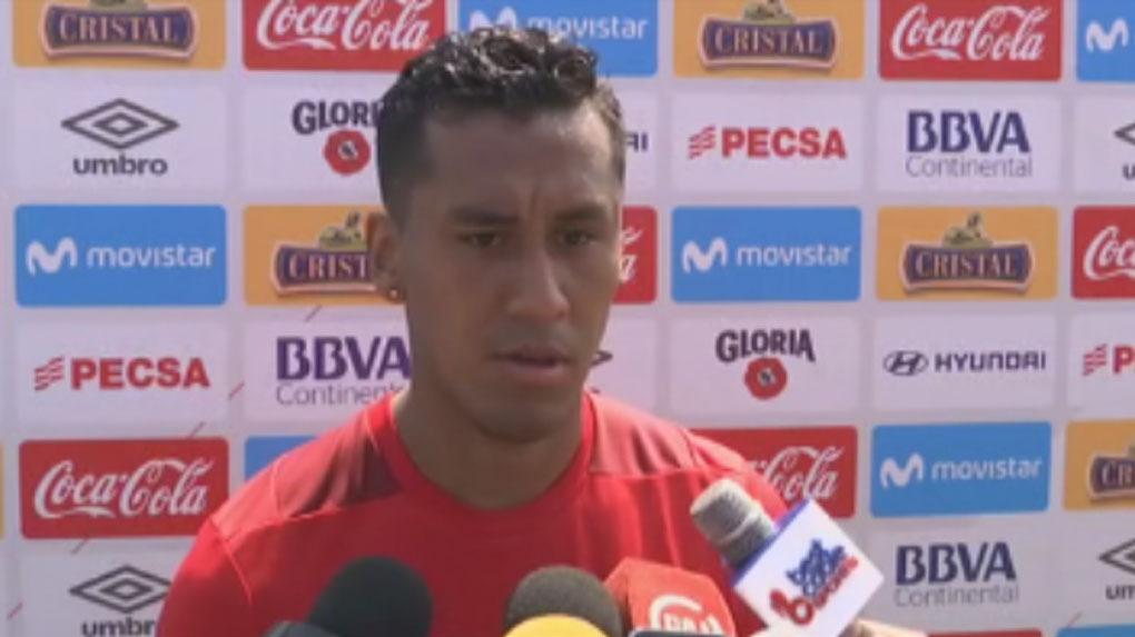 Renato Tapia fue el único jugador que habló en esta jornada de entrenamientos.