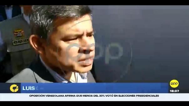 La polémica respuesta del presidente del Congreso Luis Galarreta, a la pregunta sobre la compra de televisores en el Parlamento.