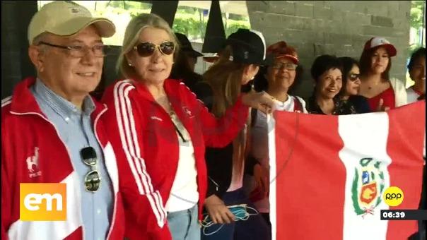 Peruanos en Zurich se reunieron para apoyar a Guerrero.