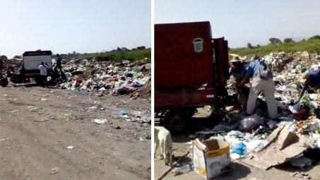 Denuncian que la Municipalidad de Chiclayo arroja basura en los campos de cultivo de Picsi