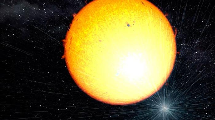 Los científicos señalan que cuanto más masiva es la estrella de neutrones, más rápido se mueve la estrella compañera para hacer la órbita.