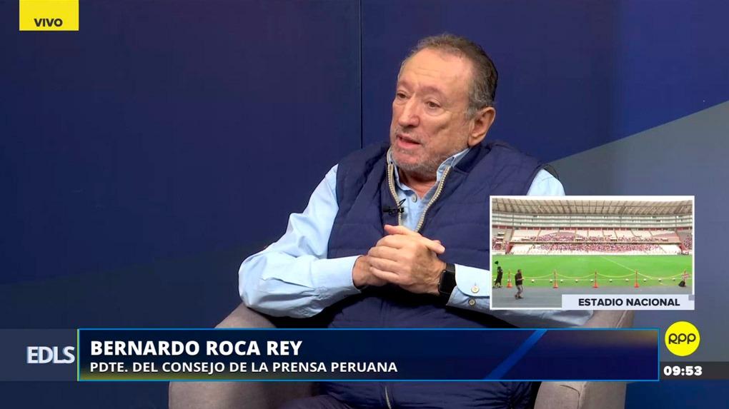 Bernardo Roca Rey, presidente del Consejo de la Prensa Peruana, criticó el proyecto del congresista Mulder que prohibiría publicidad estatal en medios.