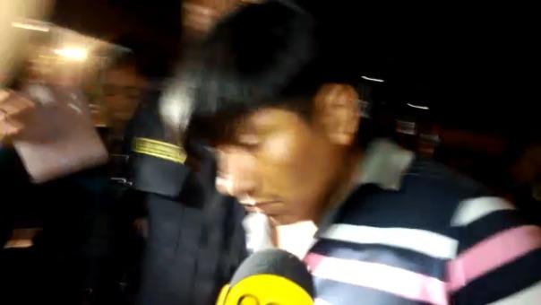 El detenido al momento de su ingreso a la sede de la Divincri señaló de forma breve que no es el autor de la violación