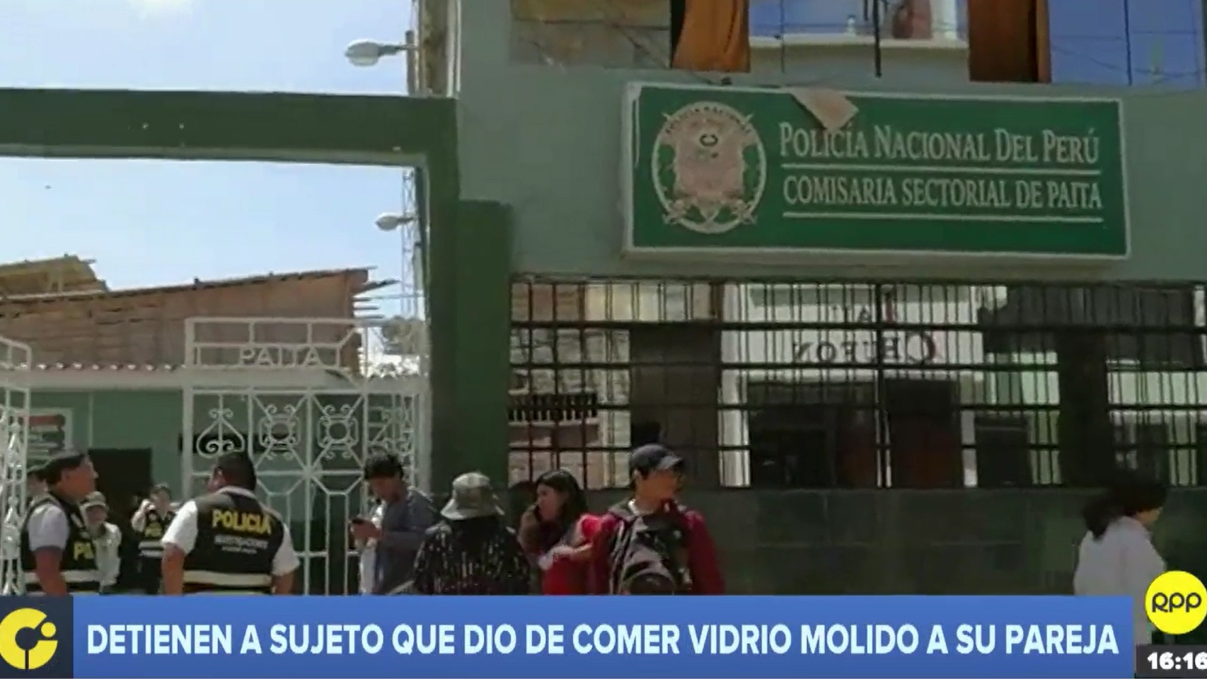 Sujeto fue detenido  llevado a la comisaría de Paita
