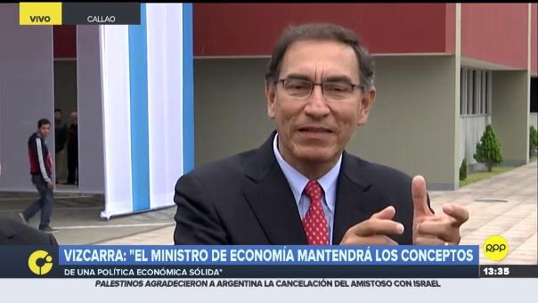El presidente Vizcarra dijo que tenían una terna ya establecida para titular del MEF, pero no adelantó nombres.