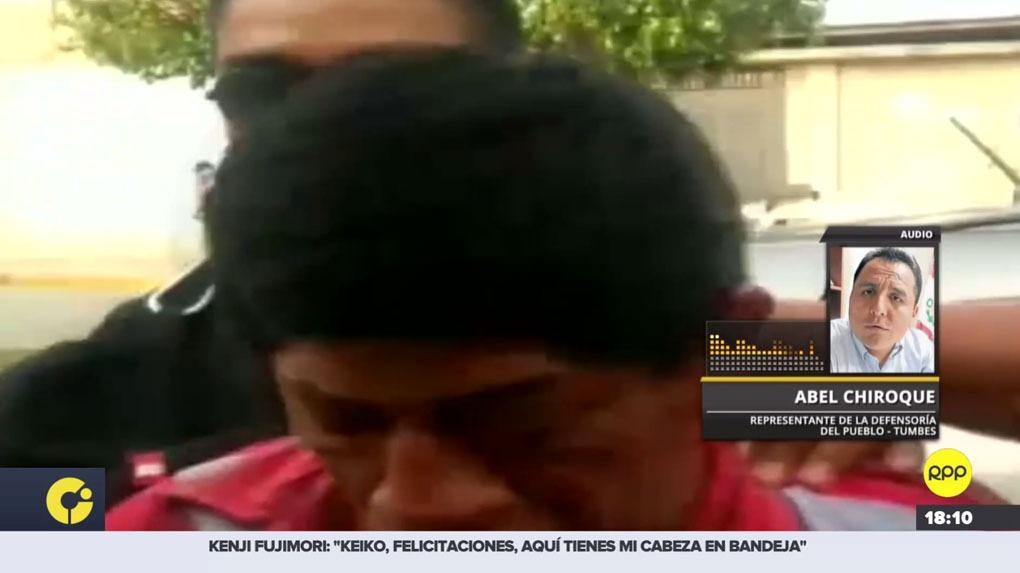 Abel Chiroque, jefe de la Defensoría del Pueblo en Tumbes, respondió por el caso de Rosa Álvarez Rivera, supuestamente quemada por su pareja.