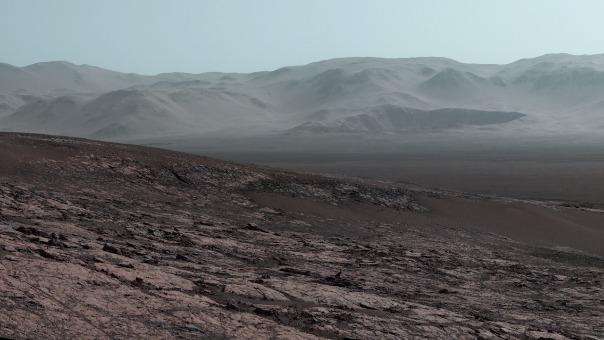 El cráter Gale, donde se realizó el hallazgo.