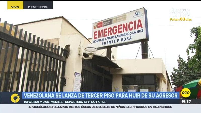 La joven permanece internada en el hospital Carlos Lanfranco de Puente Piedra.