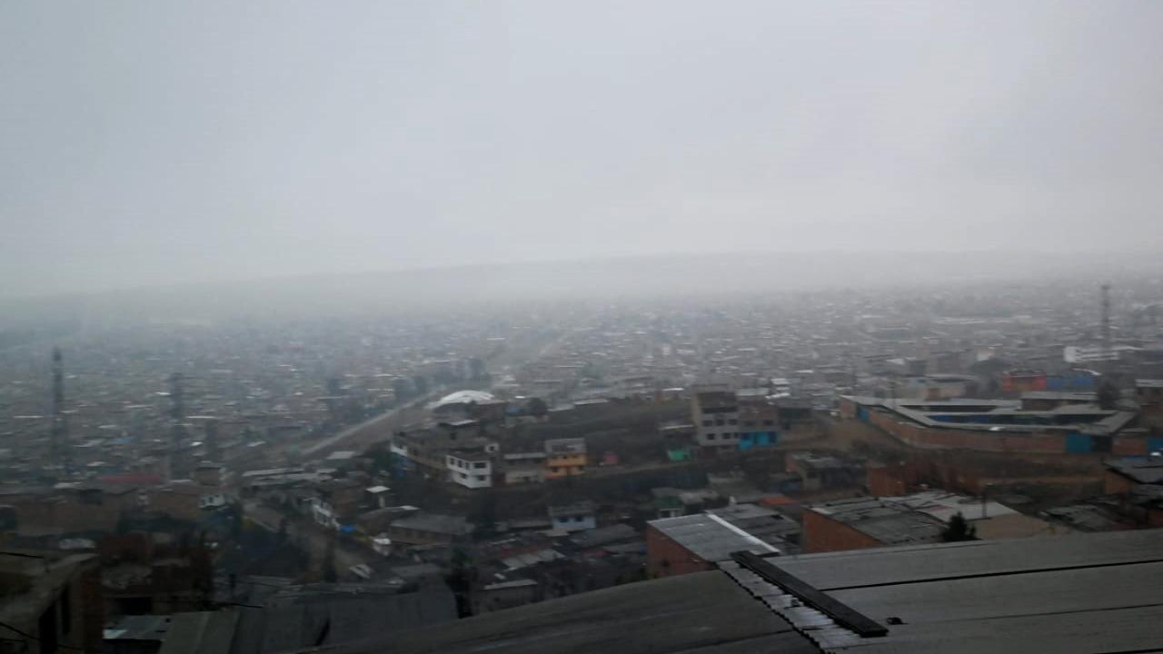 Según el reporte de Senamhi, Ticlio Chico registra 76% de humedad.