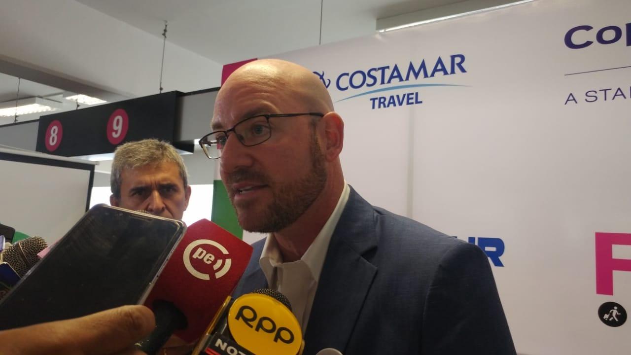 Gerente general de Aeropuertos del Perú, Evans Avendaño.