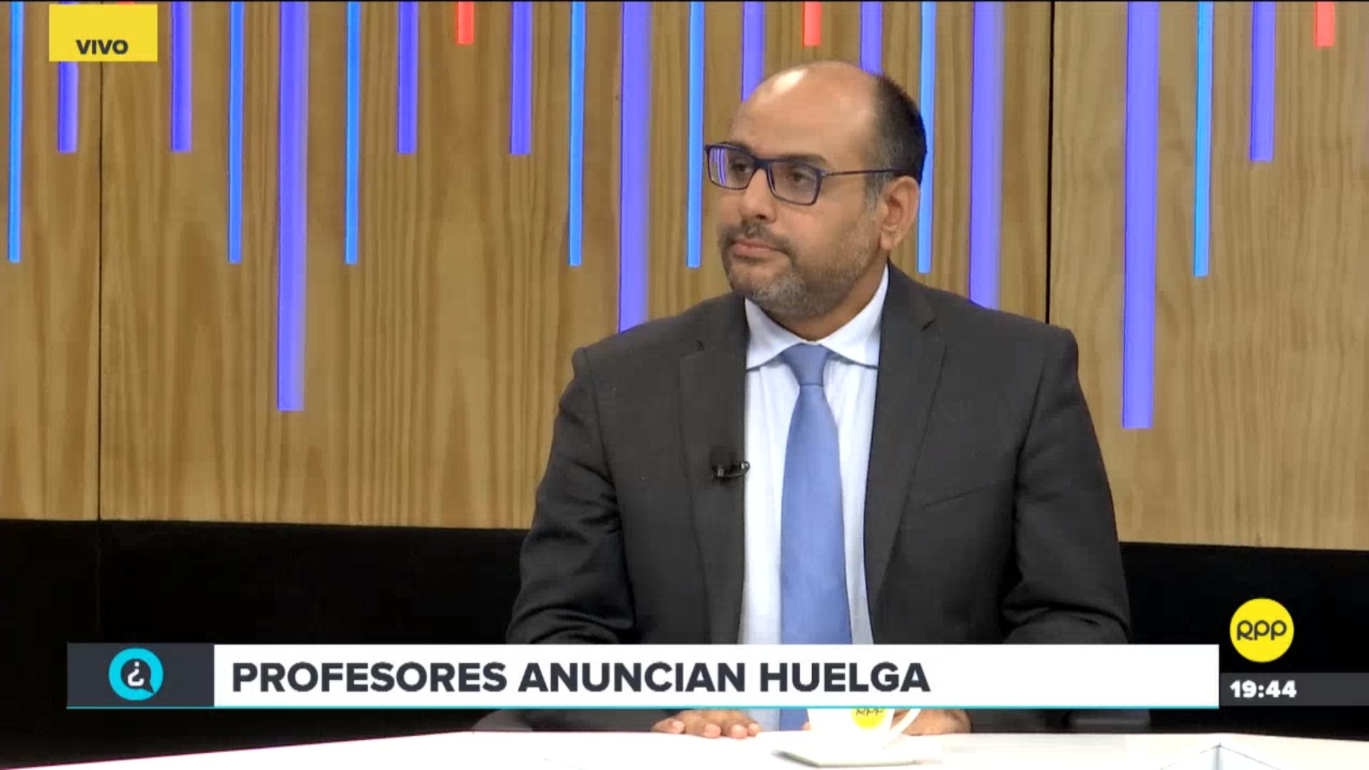 Ministro de Educación, Daniel Alfaro, se pronunció sobre la huelga que anuncian sectores gremiales de docentes.