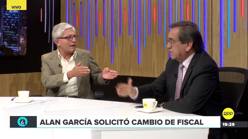Jorge Castro y Jorge del Castillo comentaron la situación del expresidente Alan García.
