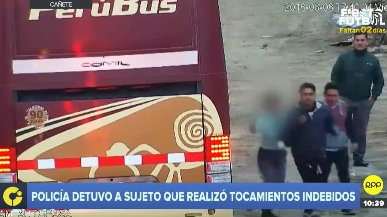 Las imágenes fueron captadas por cámaras de la Municipalidad de Cañete.