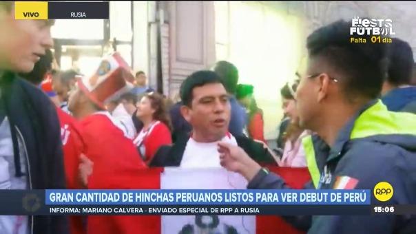 Gran cantidad de hinchas peruanos listos para el debut de Perú en Rusia 2018