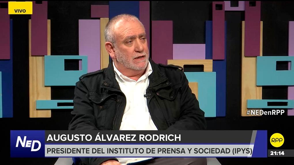 El presidente del Instituto de Prensa y Sociedad (IPYS), Augusto Álvarez Rodrich, en el programa Nada está dicho de RPP.