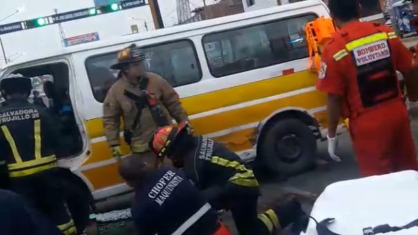 Accidente de tránsito en el distrito de La Esperanza.