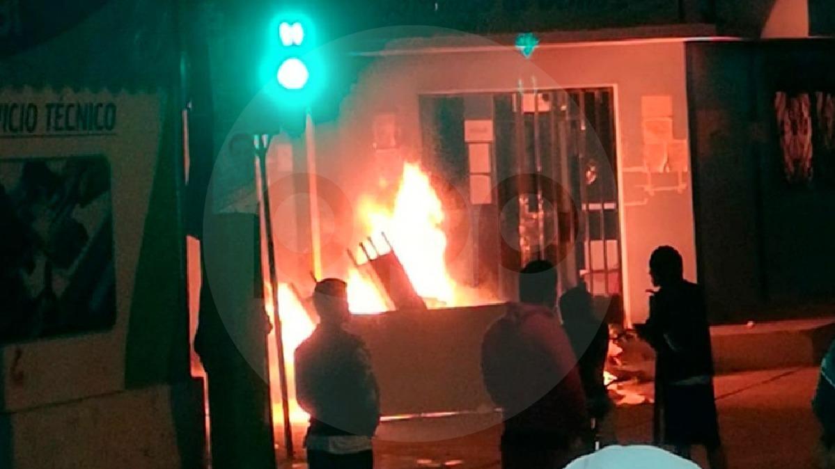 Protesta ocasionó daños a locales comunales del distrito de Olmos.