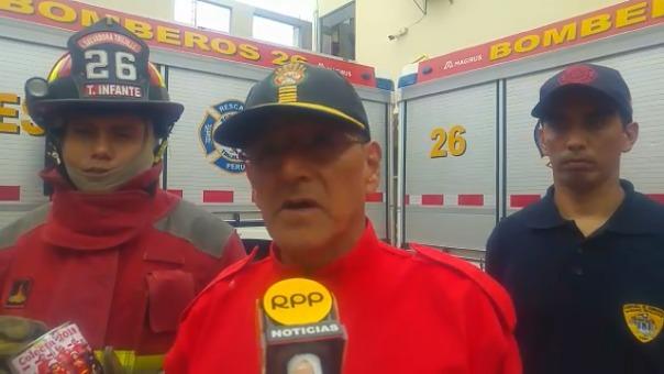 Brigadier de los bomberos, Luis Burméster.