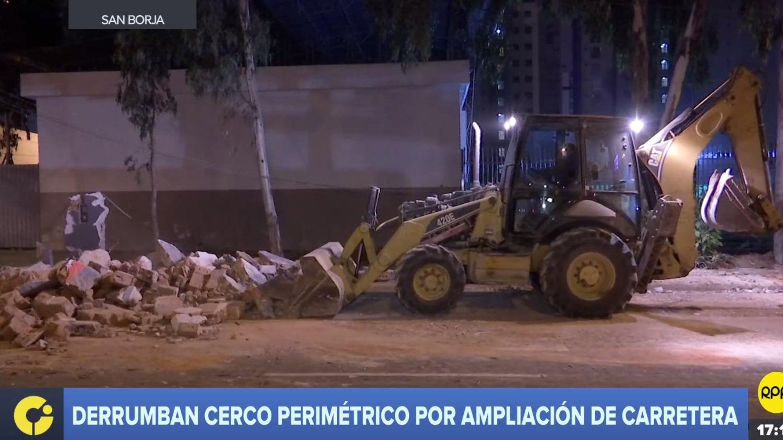 La demolición del cerco perimétrico se realizó como parte de un trabajo para recuperar la vía pública.