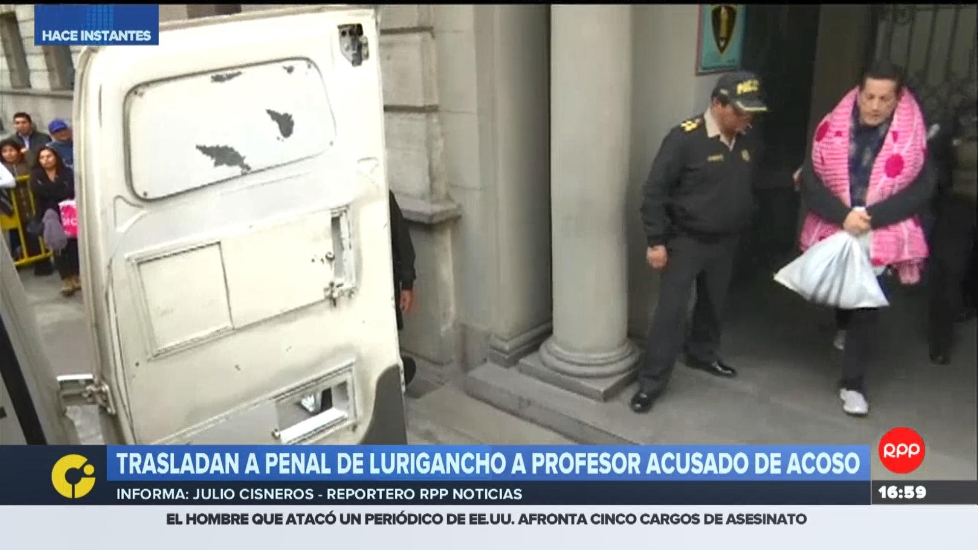 Alegría Cueto fue detenido la noche del 27 de junio en un hotel de Lince junto a una joven de 19 años que era su alumna.