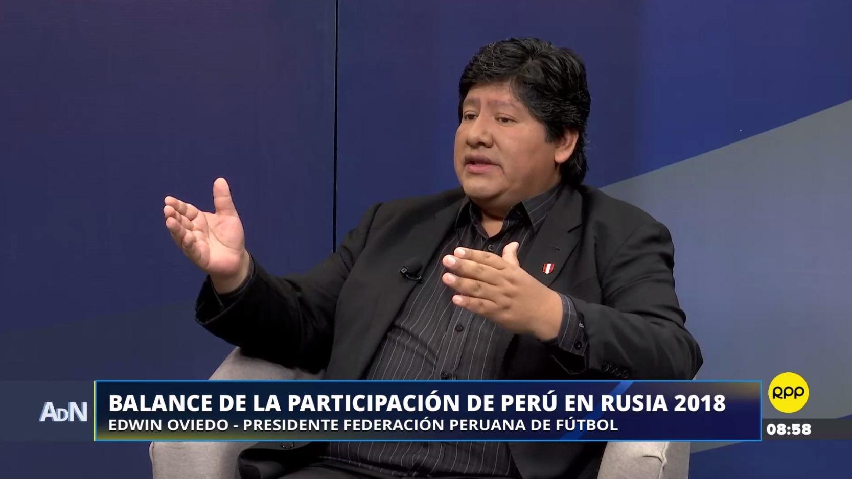 Edwin Oviedo, presidente de la FPF, comentó la posibilidad de que Ricardo Gareca continúe al mando de la Selección.