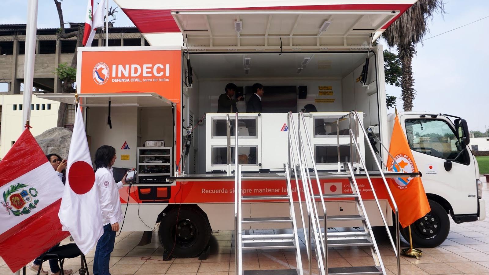 El Instituto Nacional de Defensa Civil (Indeci) entregó un simulador de sismos a la Universidad Nacional de Ingeniería (UNI).