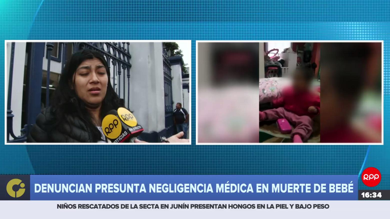 Denuncian presunta negligencia médica en fallecimiento de bebé de nueve meses.