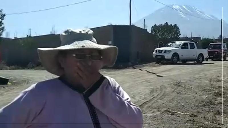 Pobladora de la parte alta del distrito de Miraflores dice que tiene miedo de vivir cerca del volcán Misti.