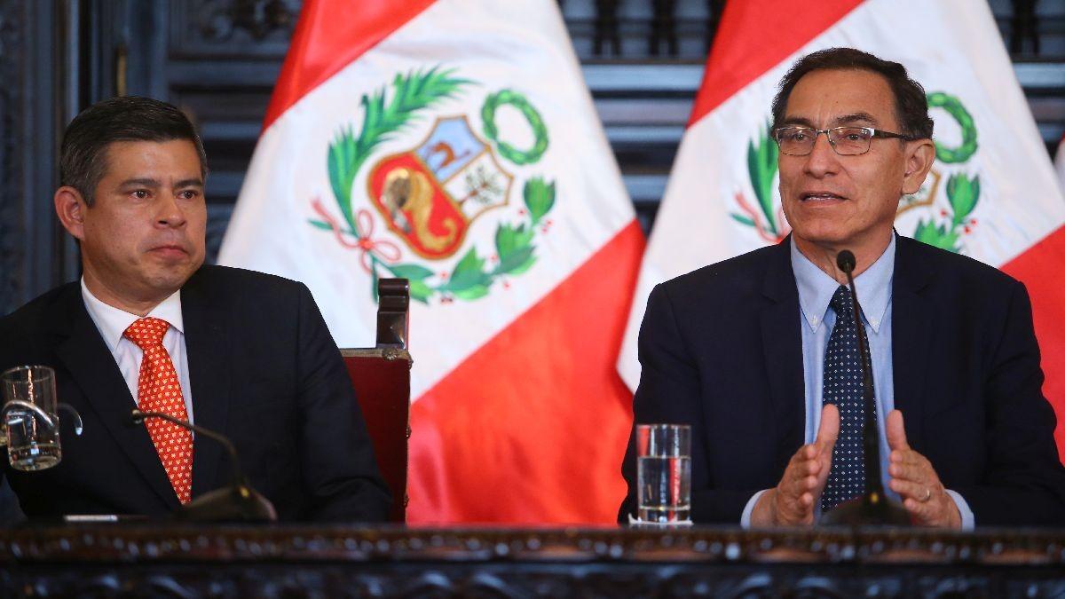 Foto: Martín Vizcarra en una evento junto a Luis Galarreta, presidente del Congreso | Video: El anuncio de Vizcarra esta mañana.